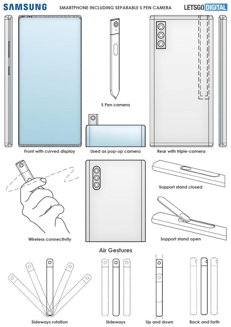 Samsung Galaxy Note brevetto