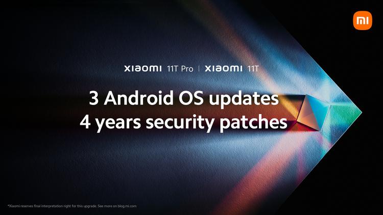 Xiaomi 11T Pro aggiornamenti quattro anni