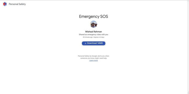 emergenze personali google pixel registrazione video