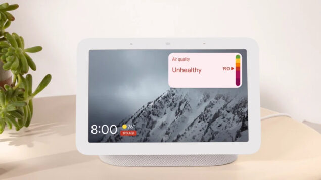 google home nest hub qualità aria weather frog novità