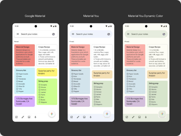 google keep material design 5.21.361.1
