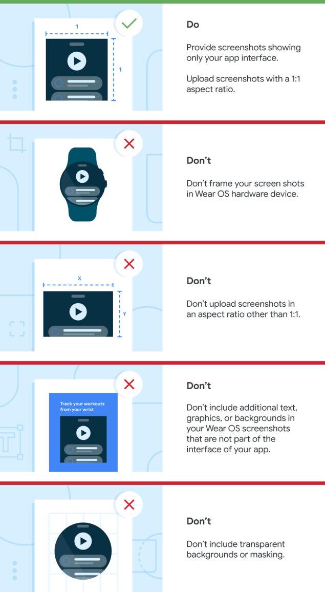 google wear os 3 linee guida app