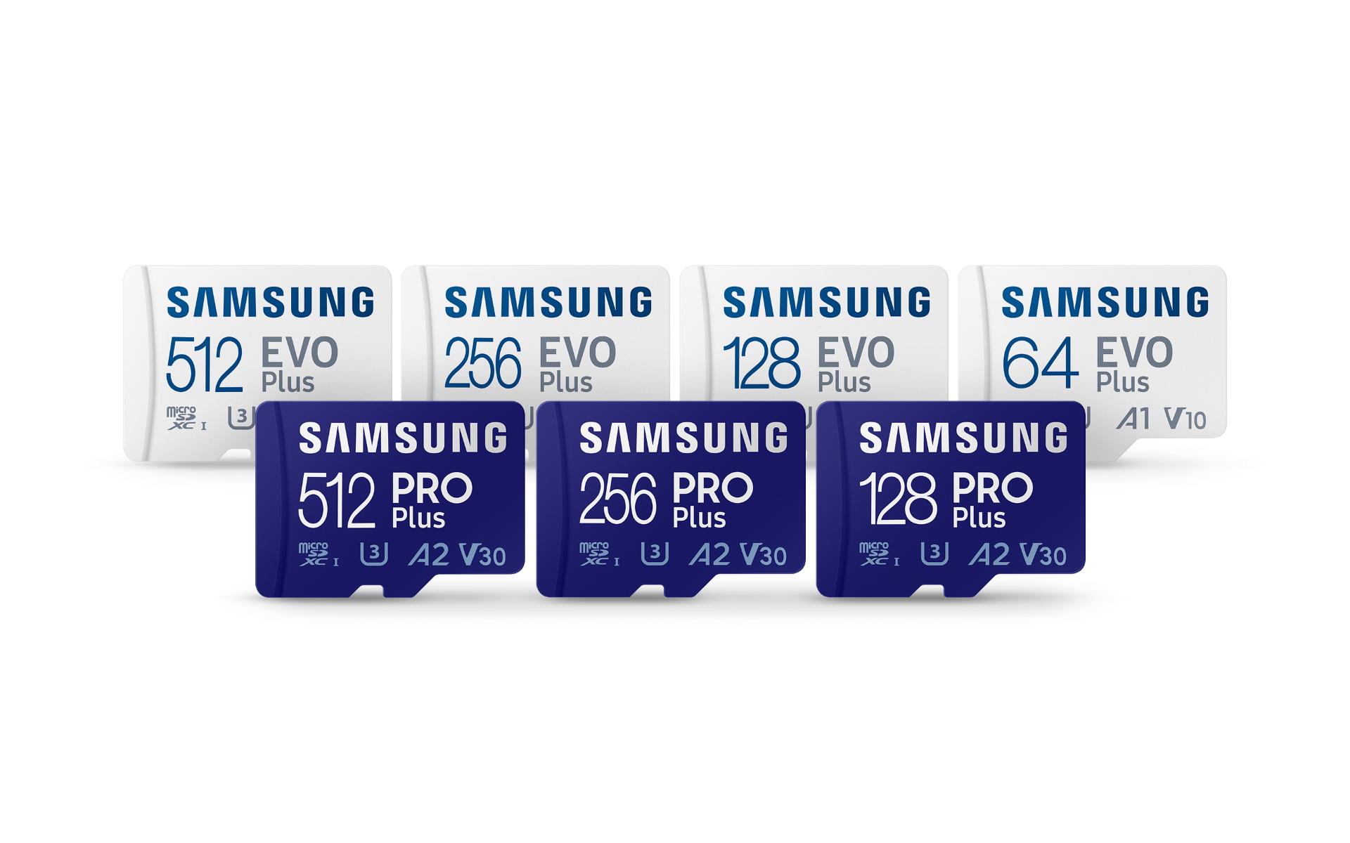 Samsung microSD PRO Plus e EVO Plus