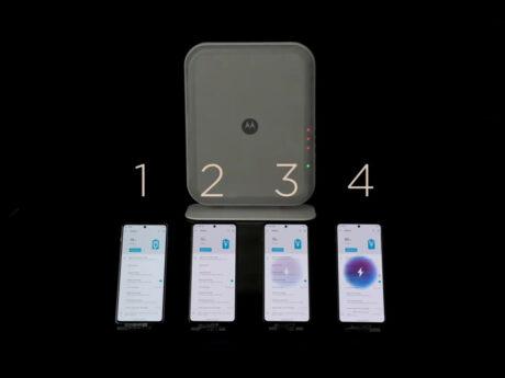 Motorola space charging ricarica wireless sviluppo feat