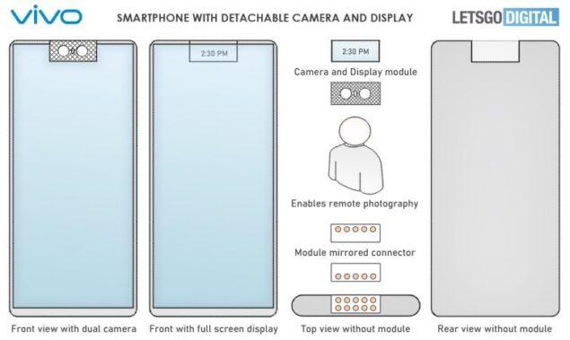 vivo smartphone fotocamera rimovibile brevetto