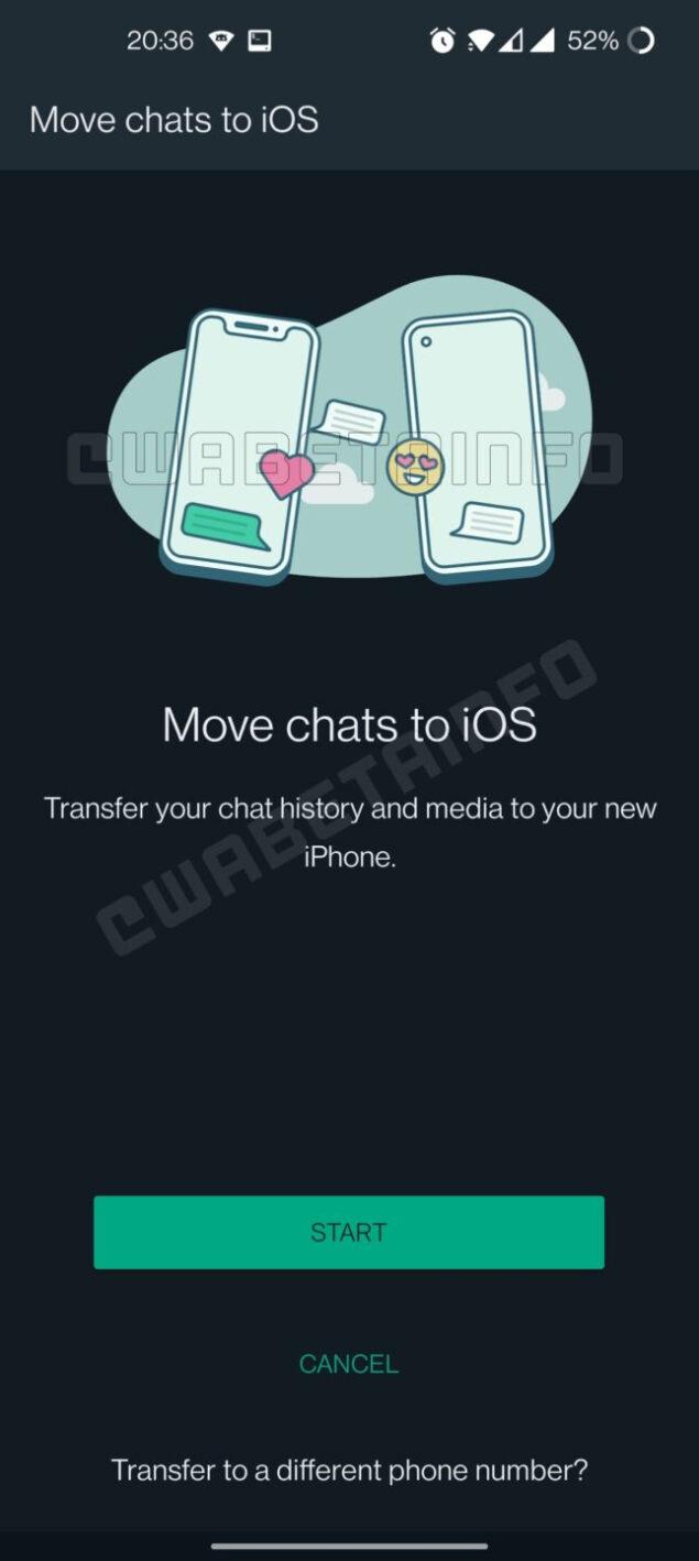 whatsapp beta migrazione chat android ios 2.21.19.1 aggiornamento novità