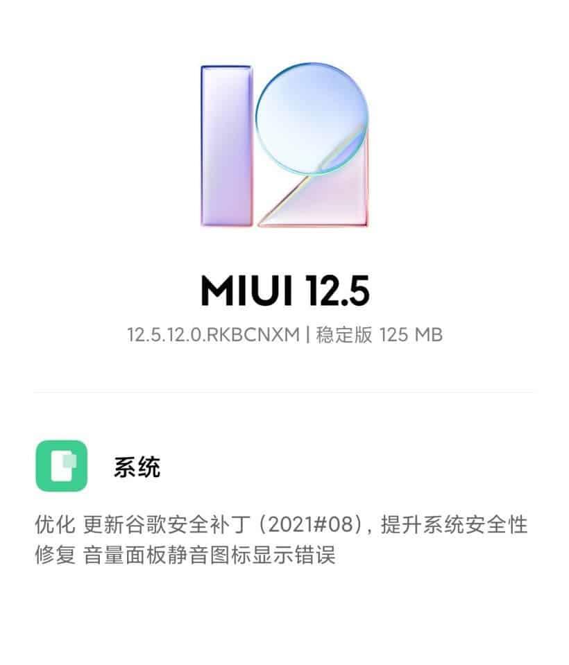 Xiaomi Mi 11 MIUI 12.5.12