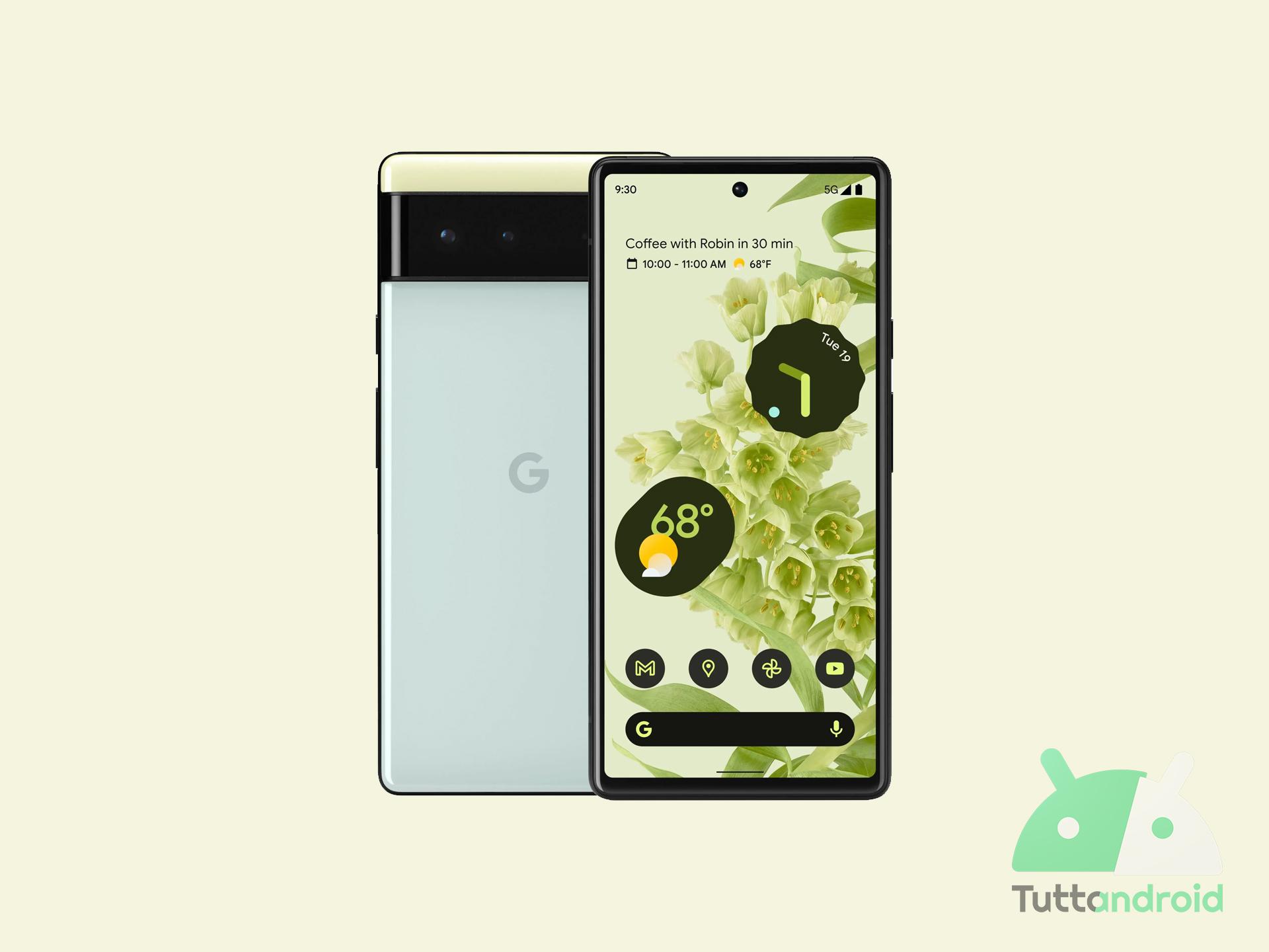 I Google Pixel 6 fanno il pieno di novità per Assistant, foto, chiamate e altro
