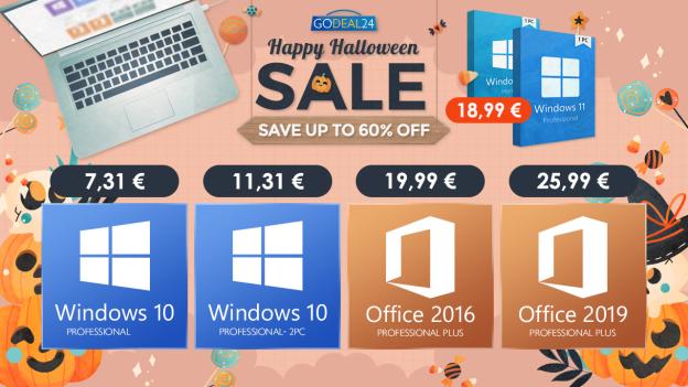 Approfittate della promozione di Halloween di GoDeal24 per aggiornare a Windows 11