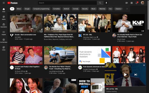 youtube continua a guardare video novità