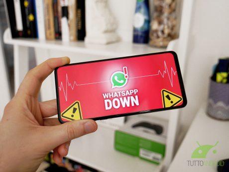 Whatsapp down non funziona malfunzionamento