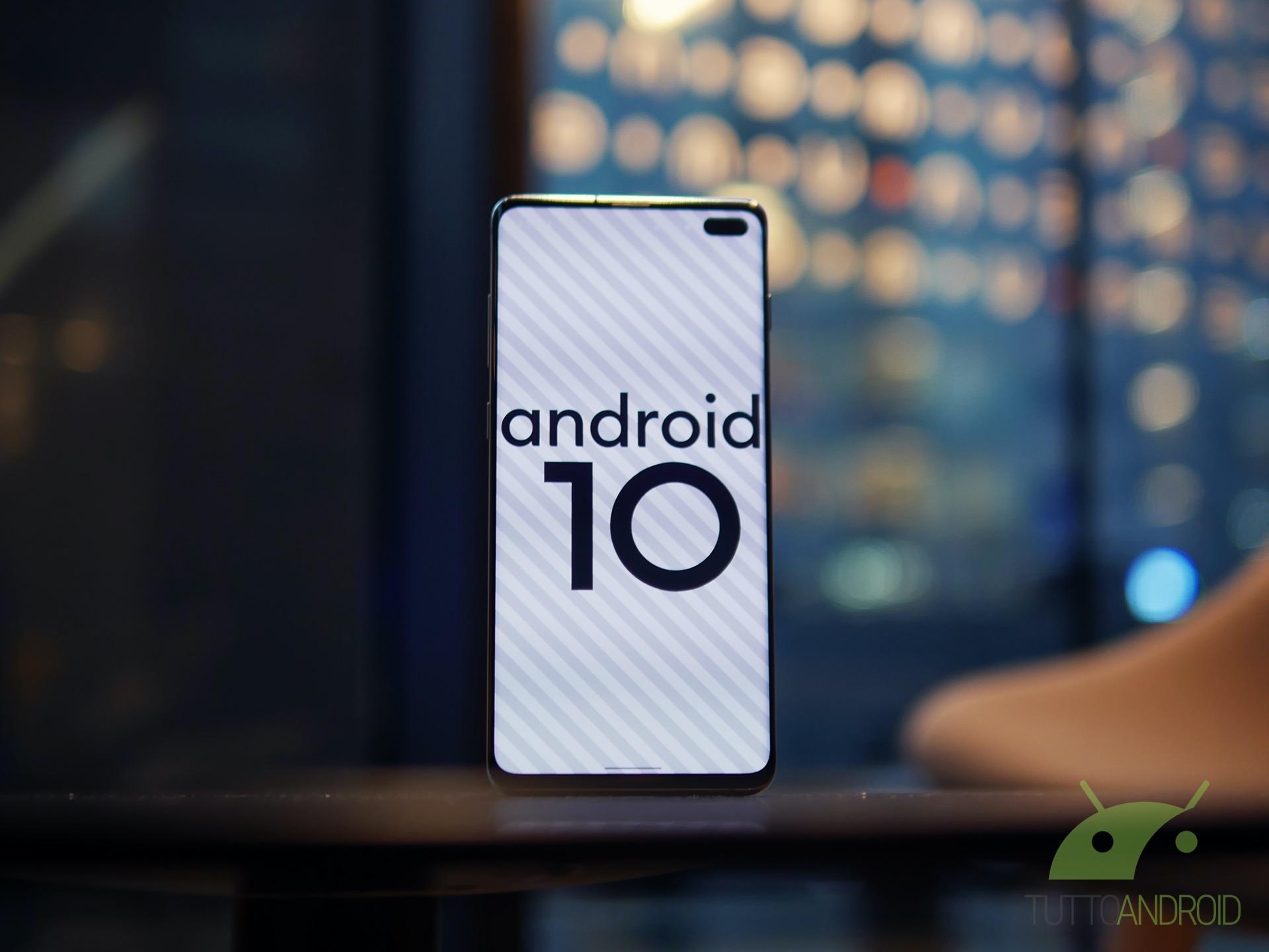 La seconda beta di Android 10 per i Samsung Galaxy S10 è die