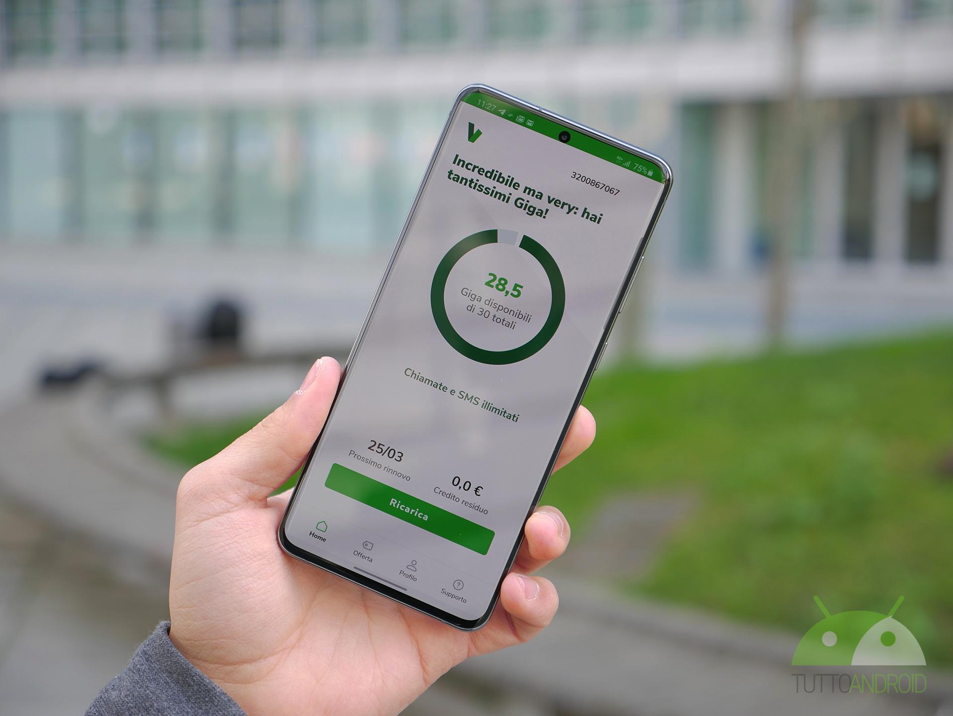 L'app Very Mobile ora consente di attivare la ricarica autom